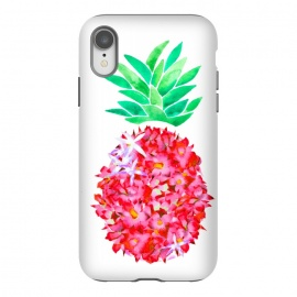 Pineapple Punch Blush by Amaya Brydon (floral,pineapple,watercolor,flowers,illustration,botanical)