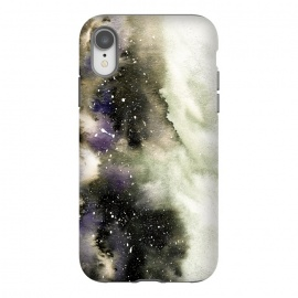 iPhone Xr  Vanilla Storm by Amaya Brydon (storm,watercolor,winter,abstract,stars,sky,cosmic)