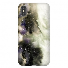 iPhone Xs Max  Vanilla Storm by Amaya Brydon (storm,watercolor,winter,abstract,stars,sky,cosmic)
