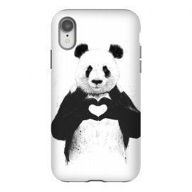 iPhone Xr  All you need is love by  (heart,black and white,panda,animal,love)