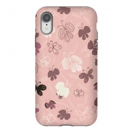 iPhone Xr  Pretty Butterflies on Pink by