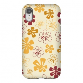 iPhone Xr  Gold Funky Flowers by