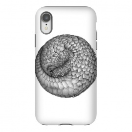 iPhone Xr  The Infinite Pangolin by ECMazur  (pangolin,animal,nature,wildlife,african animal,endangered animal,pen,pen art,ink,pen and ink,cute,baby animals)