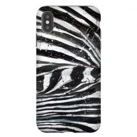 iPhone Xs Max  Zebra Stripes by ECMazur  (zebra,animal print,stripes,black and white,pattern,abstract,animal,wildlife,nature)