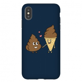 iPhone Xs Max  True love Blue by Coffee Man (love, lover, couple, romance, san valentine, fun, funny, humor, cute, adorable, emoticon, ice cream)