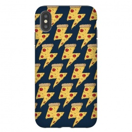 Pizza Power Pattern by Coffee Man (pizza, power, fast food,humor,fun,funny,pepperoni, cheese, pizza lover,geek, nerd)