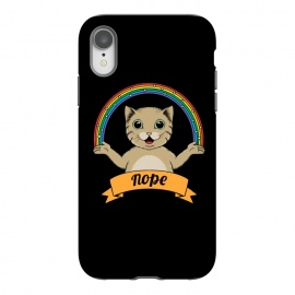 iPhone Xr  Cat nope Black by Coffee Man