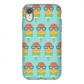 iPhone Xr  Hot Ice Cream pattern green by Coffee Man (summer,vacation,sea,marine,melted,ice cream,sun glasses,spring break,sun,sunset,landscape,beach)