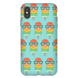 iPhone Xs Max  Hot Ice Cream pattern green by  (summer,vacation,sea,marine,melted,ice cream,sun glasses,spring break,sun,sunset,landscape,beach)
