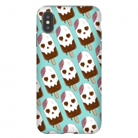 iPhone Xs Max  Skull Ice Cream Pattern by Coffee Man
