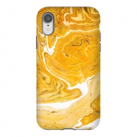 iPhone Xr  Snake Skin Marble by Uma Prabhakar Gokhale (graphic design, digital manipulation, snake, yellow, earthy, abstract, wood, nature, minimal, white, wooden)