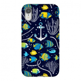 iPhone Xr  Deep Blue Sea - Navy Blue by Heather Dutton