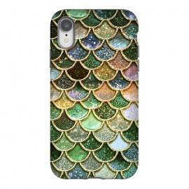 iPhone Xr  Multicolor Green Metal Glitter Mermaid Scales by