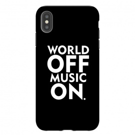 iPhone Xs Max  World Off Music On by Dhruv Narelia