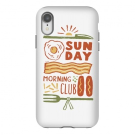 iPhone Xr  Morning Club by Tatak Waskitho (sausage,morning,breakfast,sun)