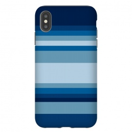 iPhone Xs Max  Blue stripes by Dhruv Narelia
