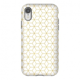 iPhone Xr  Gold - Geometric by  (graphic, pattern, gold, golden, geometric, shine, sparkle, metallic, exotic, shiny, rectangular)