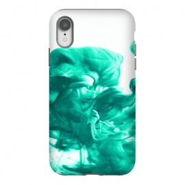 iPhone Xr  Breathe by  (minimalism, abstract, expressionism, ink, water, liquid, flow, exotic, green, free flow, spill)