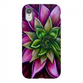 iPhone Xr  Pink Dahlia by Denise Cassidy Wood