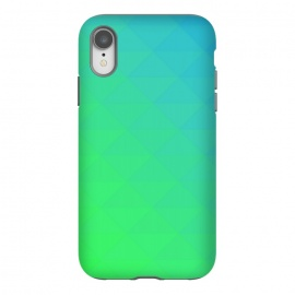 iPhone Xr  blue green triangle pattern by MALLIKA