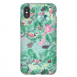 iPhone Xs Max  The Secret Garden - Mint by Stefania Pochesci