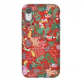 iPhone Xr  The secret Garden - Red by  (red,thesecretgarden,secret,garden,illustration,unique,whimsical,gift,surfacepattern)
