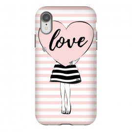 iPhone Xr  Pink Heart Love by Martina (love,heart,valentine,valentines day,modern,cute,sweet,feminine,pink,stylish,woman,girl,typography,words)