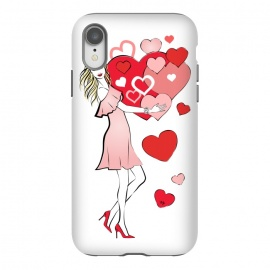 iPhone Xr  Queen of Hearts by Martina (love,heart,woman,girl,valentine,valentines day,stylish,modern,cute,feminine,girly,illustration)