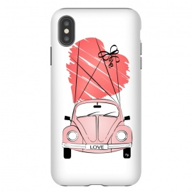Love Car by Martina (love,heart,valentine,valentines day,car,beetle,volkswagen,pink,pastel,feminine,girly,modern,stylish,illustration,travel,traveling)