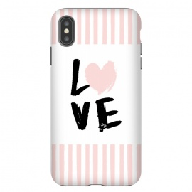 Pink Love by Martina (love,heart,valentine,valentines day,stripes,pink,typography,words,modern,cute,feminine,girly)