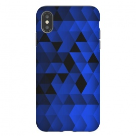 iPhone Xs Max  Triangles Wave by Sitchko Igor (Geometric,Tirangles,Triangle,math,Minimal,Minimalistic,Blue,Pattern)