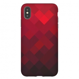 iPhone Xs Max  Red Underground by Sitchko Igor (Geometric,geometry,rectangles,square,Minimal,Minimalistic)