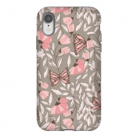 iPhone Xr  Romantic Butterflies Gray by Jelena Obradovic