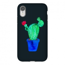 iPhone Xr  Red Flower Cactus by Amaya Brydon (cactus,cacti,botanical,floral,plant,red,pink,plants,green)