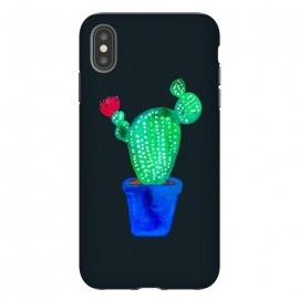 iPhone Xs Max  Red Flower Cactus by Amaya Brydon