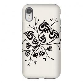 iPhone Xr  Abstract Black And White Floral With Pointy Leaves by Boriana Giormova