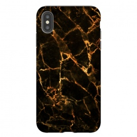 iPhone Xs Max  Black marble with golden cracks by Oana