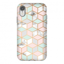 iPhone Xr  Marble & Gold Geometry 051 by Jelena Obradovic