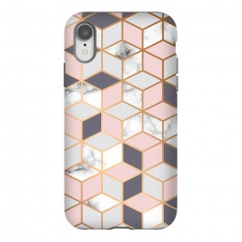iPhone Xr  Marble & Gold Geometry 052 by