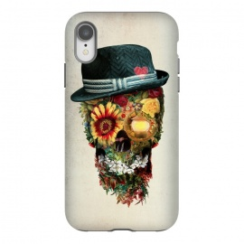 iPhone Xr  Skull Lover by Riza Peker (skull,skulls,floralskull,sugarskull,flowers,romantic,roses,art)