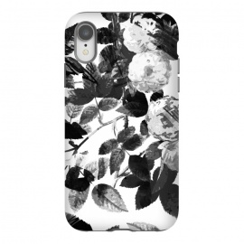 iPhone Xr  Black and white ink roses by Oana