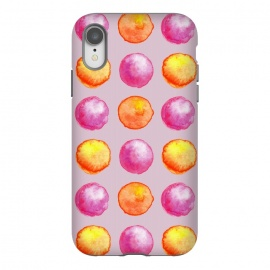 iPhone Xr  Juicy Watercolor Pink And Orange Spheres Pattern by Boriana Giormova