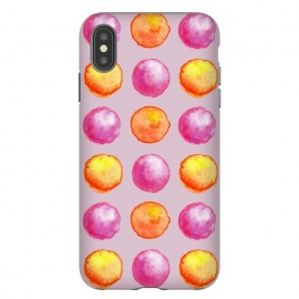 iPhone Xs Max  Juicy Watercolor Pink And Orange Spheres Pattern by