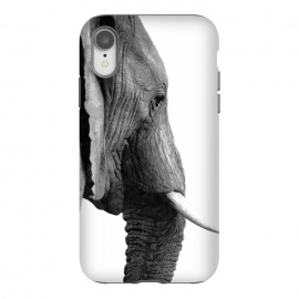 Black and White Elephant Profile by Alemi
