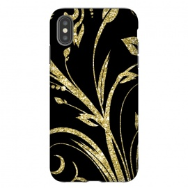 iPhone Xs Max  Black Gold and Glitter Pattern by Alemi