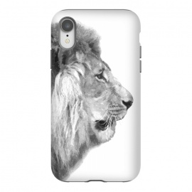 iPhone Xr  Black and White Lion Profile by Alemi