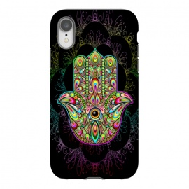 iPhone Xr  Hamsa Hand Psychedelic Amulet  by BluedarkArt