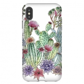 iPhone Xs Max  Cactus garden by  (cactus, cacti,watercolour,painting,ink,garden,illustration,handrawn,botanical)