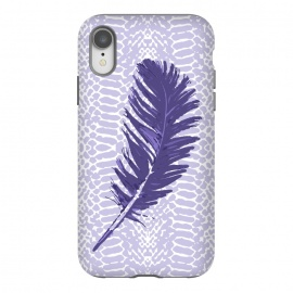 iPhone Xr  Violet feather by Julia Grifol