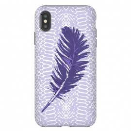 iPhone Xs Max  Violet feather by  (violet,feather,illustratio,lilac,snake)